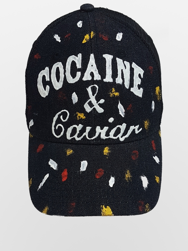 HANDMADE HAT  'COCAINE'