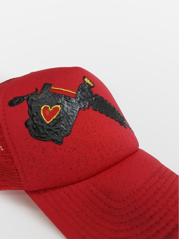 HANDMADE HAT 'LOVE TATOO'